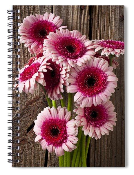 Pink Gerbera Daisies Spiral Notebook
