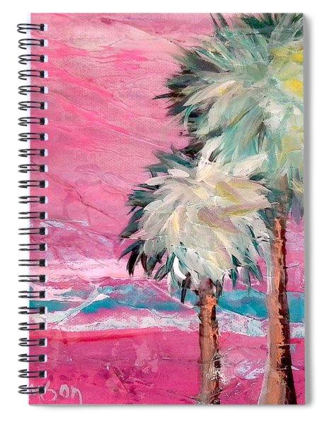 Pink Horizon Palms Spiral Notebook