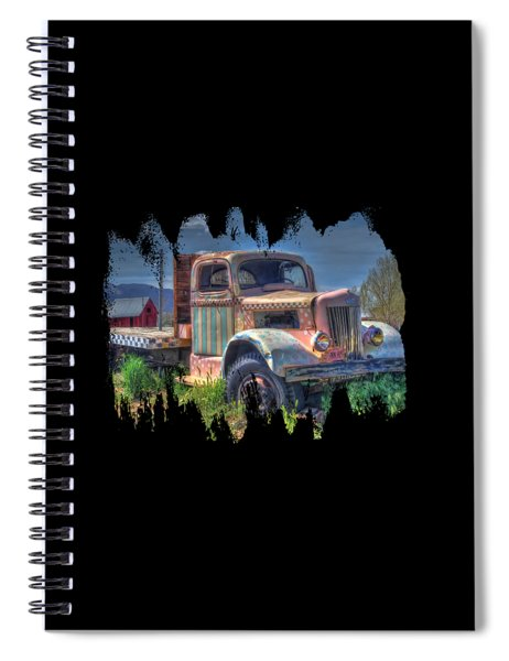 Classic Flatbed Truck In Pink Spiral Notebook