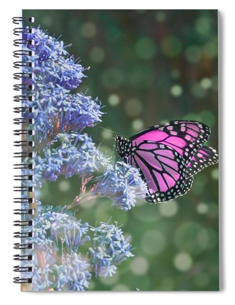 Spiral Notebook featuring the photograph Pink Lady by Alison Frank