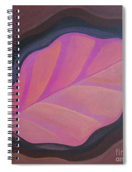 Pink Leaf Spiral Notebook