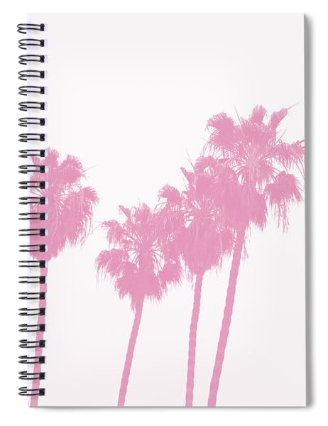 Pink Palm Trees- Art By Linda Woods Spiral Notebook