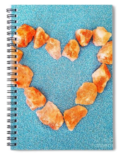 Pink Rocks Heart Spiral Notebook