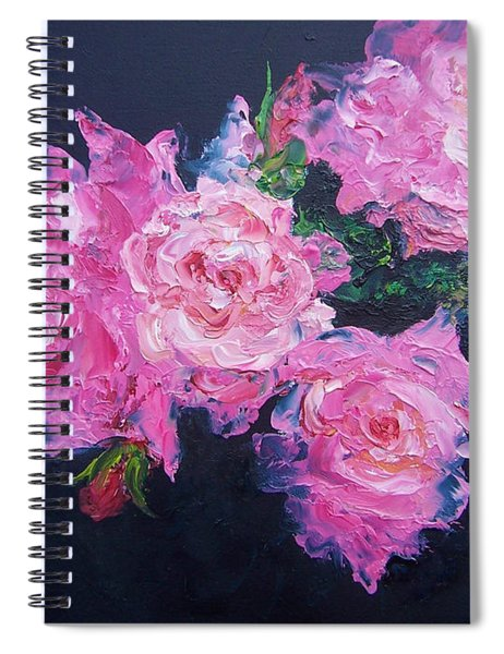 Pink Roses Oil Painting Spiral Notebook