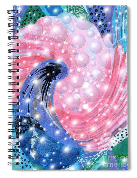 Pink Shell Fantasia Spiral Notebook
