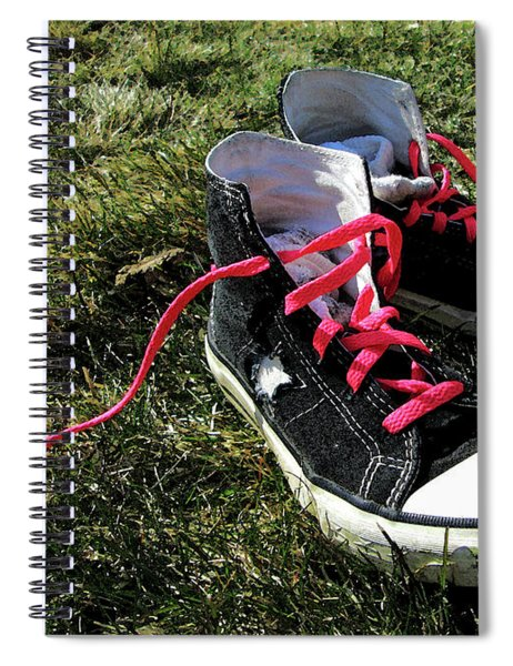 Pink Shoe Laces Spiral Notebook