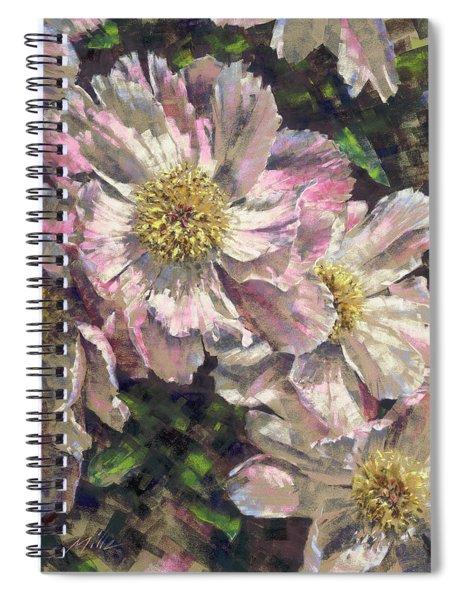Pink Single Peonies Spiral Notebook