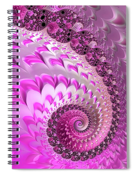 Pink Spiral With Lovely Hearts Spiral Notebook
