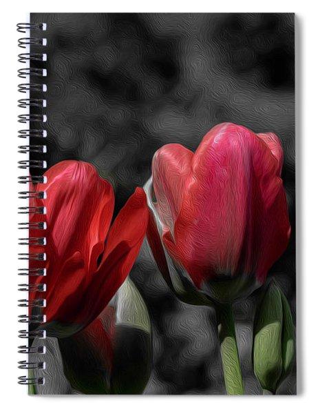 Pink Tulip Pop Spiral Notebook