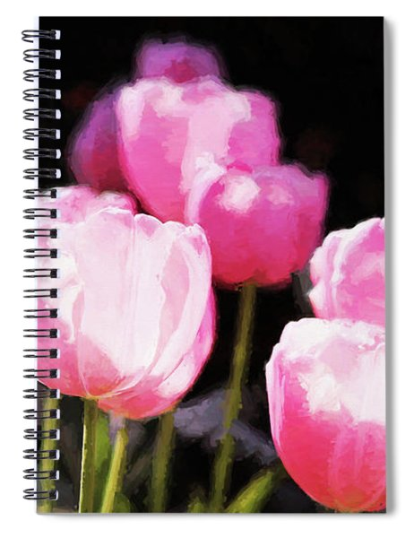 Pink Tulips Spiral Notebook