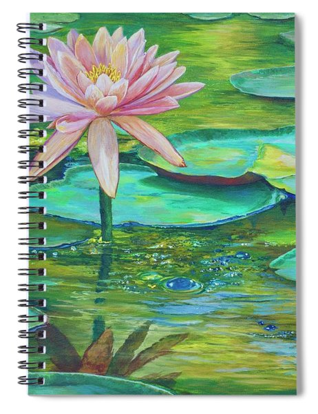 Pink Water Lily Spiral Notebook