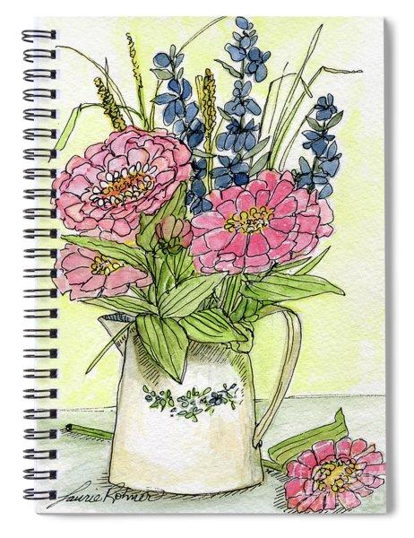 Pink Zinneas Spiral Notebook