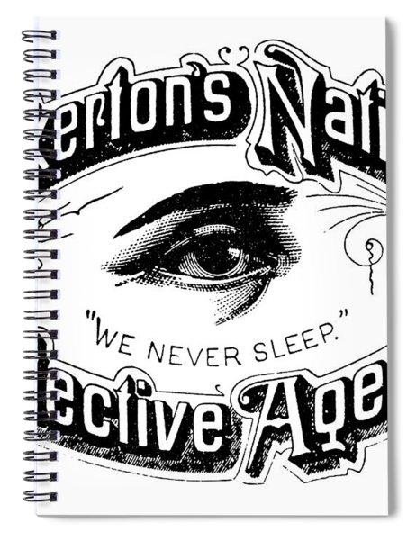 Pinkerton's National Detective Agency, We Never Sleep Spiral Notebook