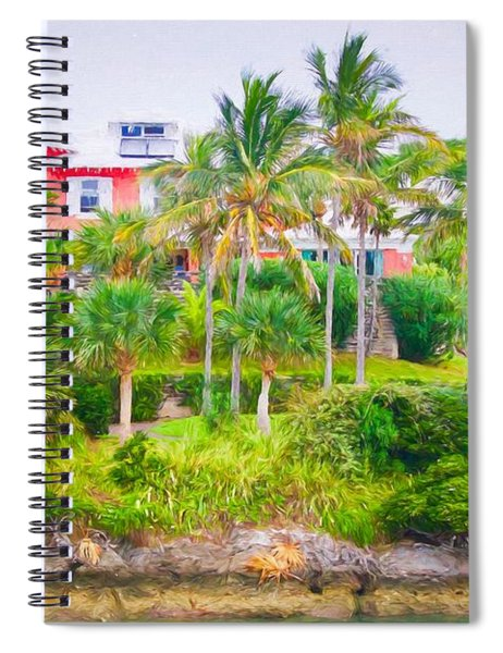 Pinks And Palms Spiral Notebook
