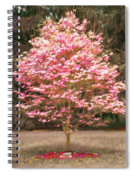 Pinky And The Bench - Impressionism Spiral Notebook