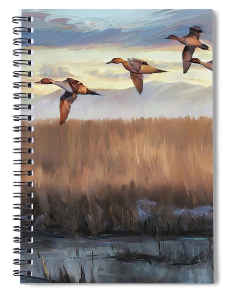 Pintail Fly By Spiral Notebook