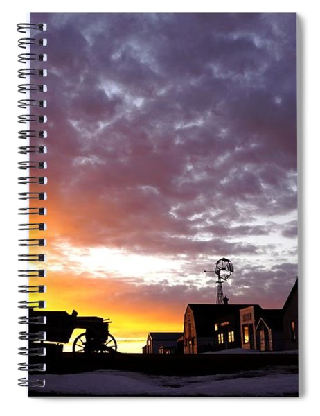 Pioneer Town Sunset Spiral Notebook