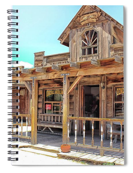 Spiral Notebook featuring the photograph Pioneertown, Usa by Alison Frank