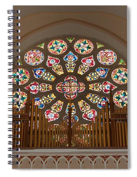 Pipe Organ - Church Spiral Notebook
