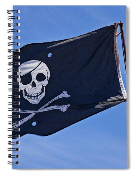 Pirate Flag Skull And Cross Bones Spiral Notebook