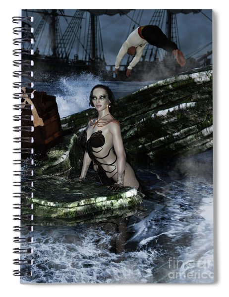 Pirate Treasue Spiral Notebook