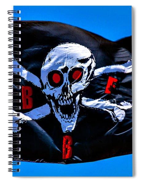 Pirate War Flag Spiral Notebook