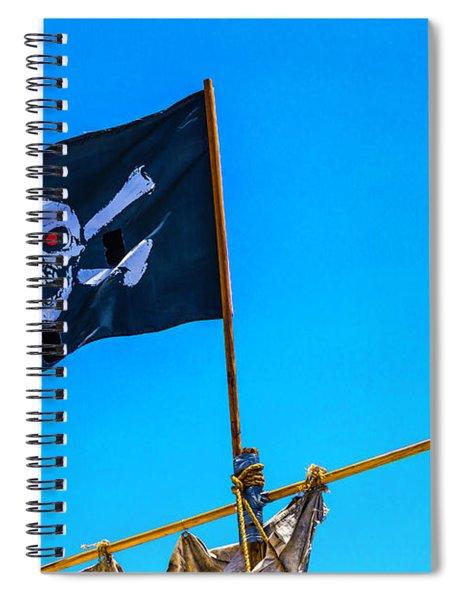 Pirates Death Black Flag Spiral Notebook
