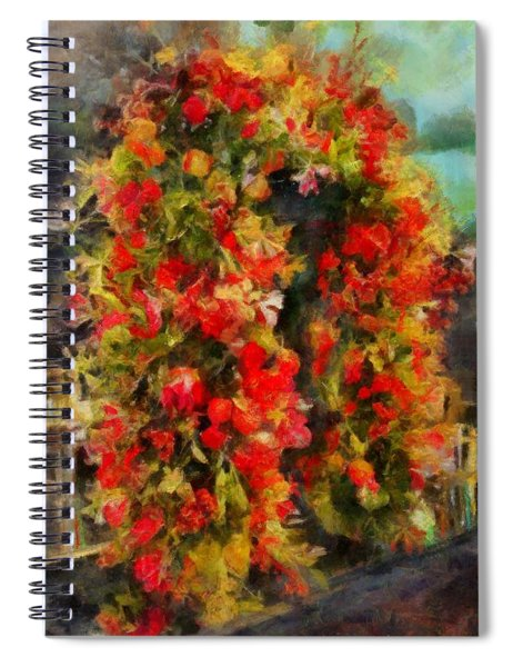 Pi's Flowers 2 Spiral Notebook