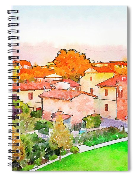 Pisa In Watercolor Style Spiral Notebook