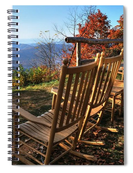 Pisgah Inn's Rocking Chairs Spiral Notebook