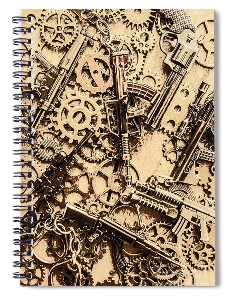 Pistol Parts And Rifle Pinions Spiral Notebook