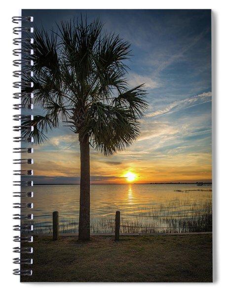 Pitt Street Bridge Palmetto Tree Sunset Spiral Notebook