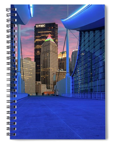 Pittsburgh In Blue  Spiral Notebook
