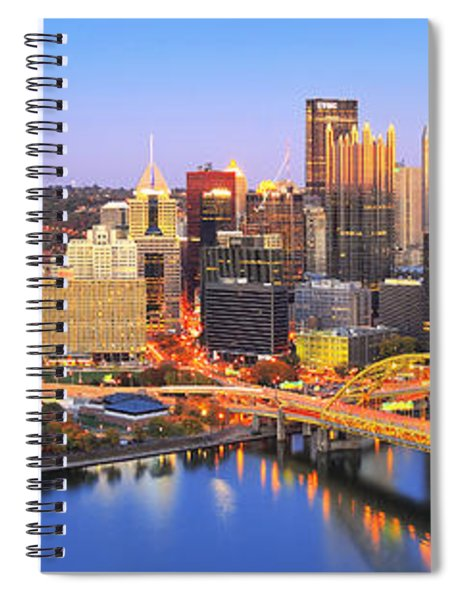 Pittsburgh Pano 22 Spiral Notebook
