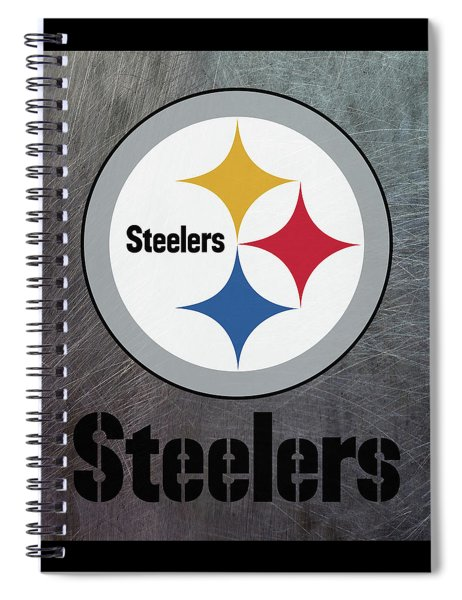 Pittsburgh Steelers On An Abraded Steel Texture Spiral Notebook