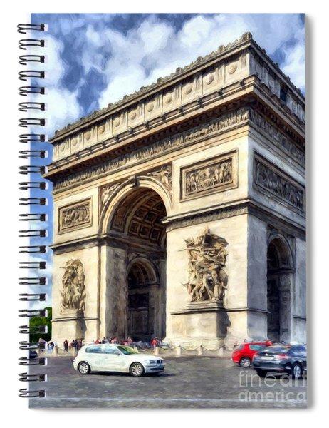 Arc De Triomphe # 2 Spiral Notebook by Mel Steinhauer