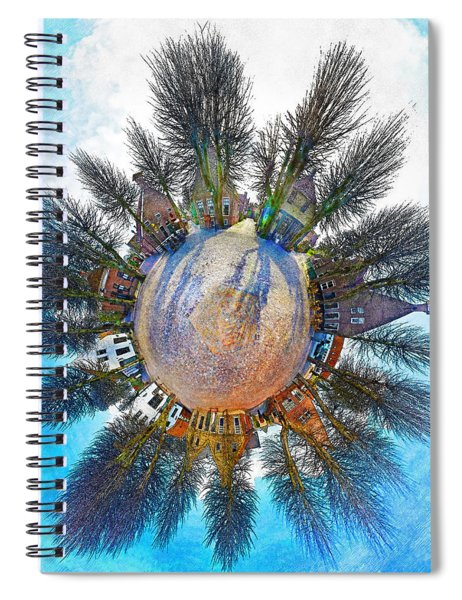 Planet Bourtange Spiral Notebook