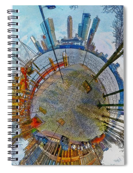 Planet Rotterdam Spiral Notebook