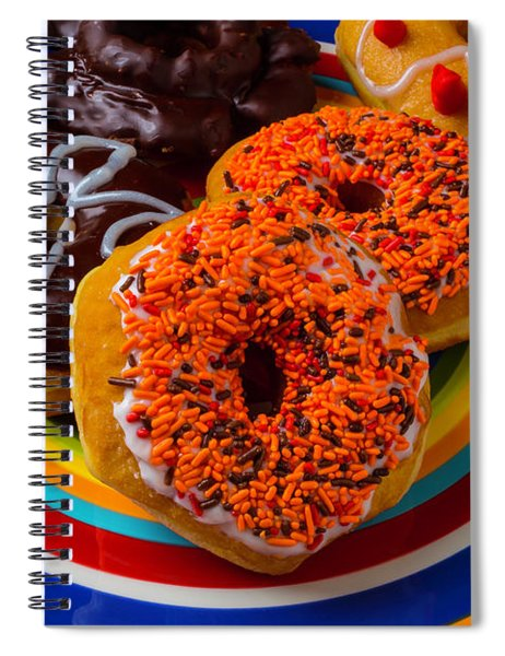 Plate Of Donuts Spiral Notebook