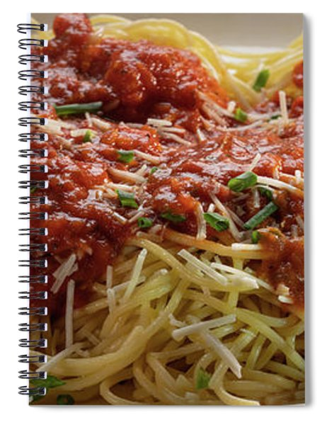 Plated Pasta Spiral Notebook