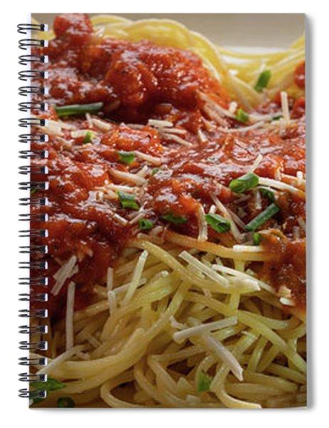 Plated Pasta Spiral Notebook