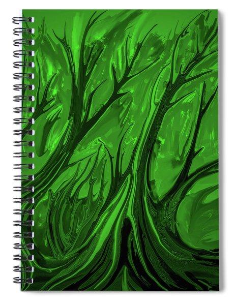 Play Green #h6 Spiral Notebook