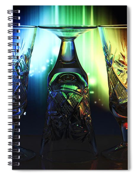 Play Of Glass And Colors Spiral Notebook