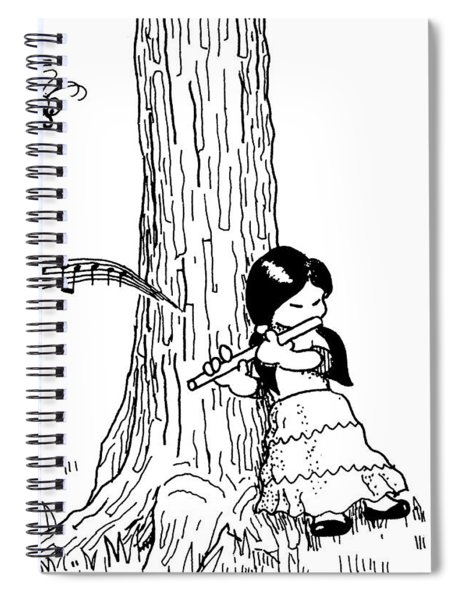 Play The Flute Under The Tree Spiral Notebook