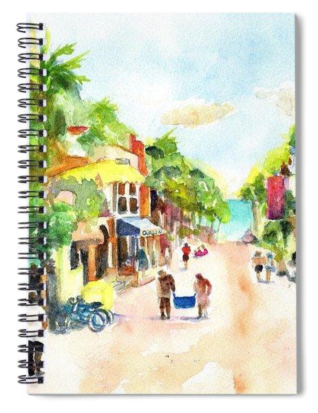 Playa Del Carmen Mexico Shops Spiral Notebook