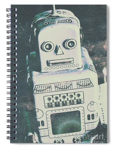 Playback The Antique Robot Spiral Notebook