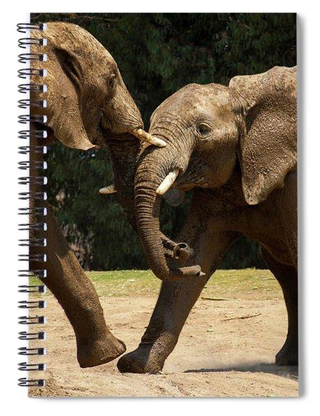 Playful Elephants Spiral Notebook
