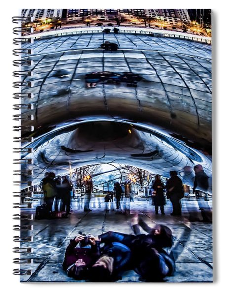 Playful Ladies By Chicago's Bean  Spiral Notebook