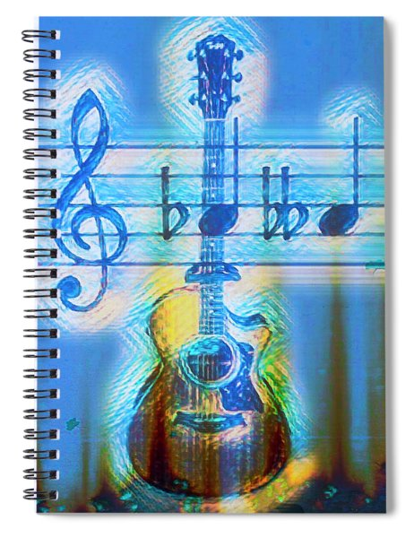 Playing The Blues Guitar Spiral Notebook