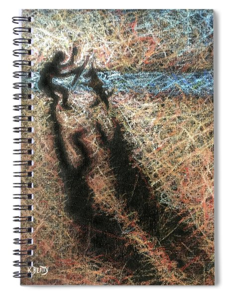 Playing With The Dog Spiral Notebook